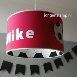 Voetbal lamp rood en zwart