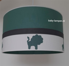 lamp babykamer oud groen jungle diertjes