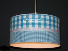 Babylamp aquaruit en aqua klein ruitje