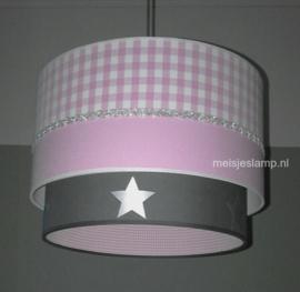 Babylampen roze antraciet zilver sterren