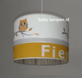 Lamp Babykamer okergeel uiltjes
