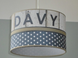 Babylamp Davy steigerhout en sterren