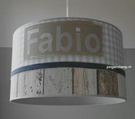 baby hanglamp lichtblauw ruitje Fabio
