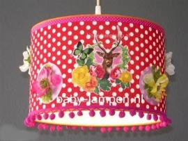 Babylamp hertje met rozen