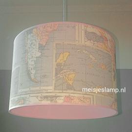 lamp wereldkaart