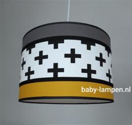 lamp babykamer plusjes grijs en okergeel