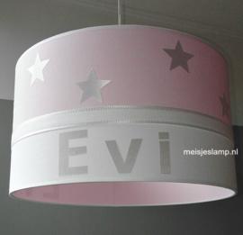 Baby hanglamp roze wit sterren