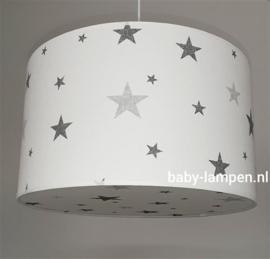 lamp babykamer wit met grijze sterren
