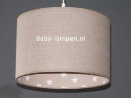 Babylamp beige met sterren