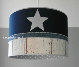 babylamp steigerhout donkerblauw