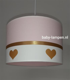 babylamp roze gouden hartjes