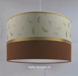 babykamerlamp gouden veertjes roest bruin