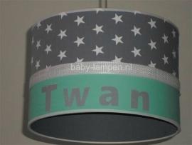 Babylamp Twan grijs mint groen