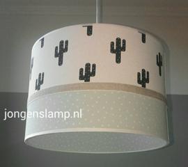 Hanglamp babykamer mintgroen en cactus