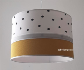 Lamp babykamer oker geel zwarte stippen