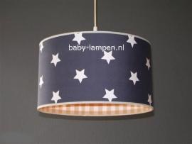Babylamp antraciet sterren beige ruit