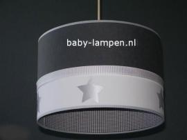 lamp babykamer antraciet en mini grijs ruitje