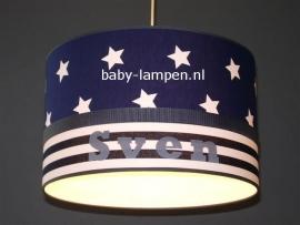 lamp babykamer Sven donkerblauwe sterren en strepen