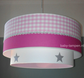Babylampen roze fuchsia zilver