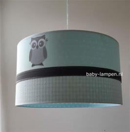 Hanglamp mintgroen uiltjes