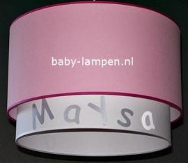 lamp babykamer Maysa roze en wit