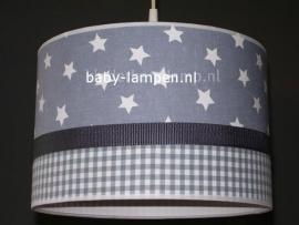Babylamp grijze ster en grijze ruit
