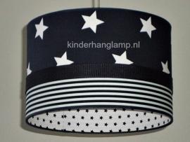 Babylamp donkerblauw witte sterren en strepen binnenkant sterren