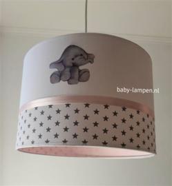babylamp roze en olifantjes