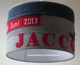 Babylamp Jacco met spijkerstoffen