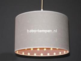 babylamp lichtgrijs met sterren