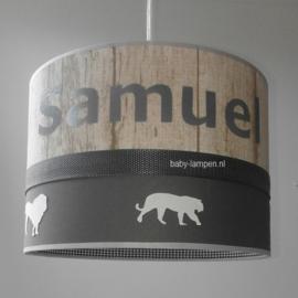 lamp met jungle dieren en naam