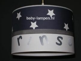 Jongenslamp babykamer antraciet sterren Rinse