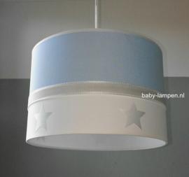 Babylamp lichtblauw zilveren sterren