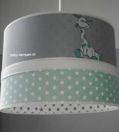 babylamp mint sterren en girafjes
