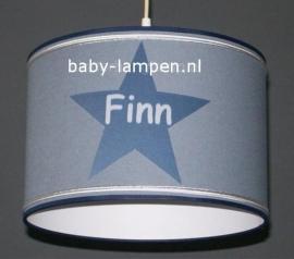 lamp babykamer  grijs en donkerblauwe 3x ster Finn
