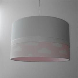babylamp wit met roze wolkjes