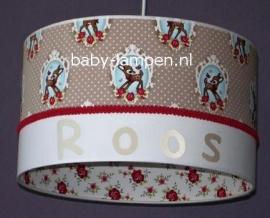 lamp babykamer Roos met bambi