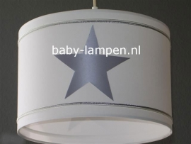 Babylamp wit 3x zilveren ster
