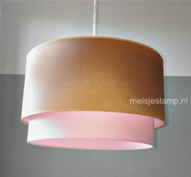 Lamp babykamer roze en goud