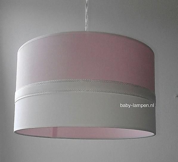 Lamp babykamer roze en wit