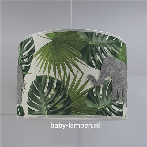 Lamp babykamer olifant jungle stof