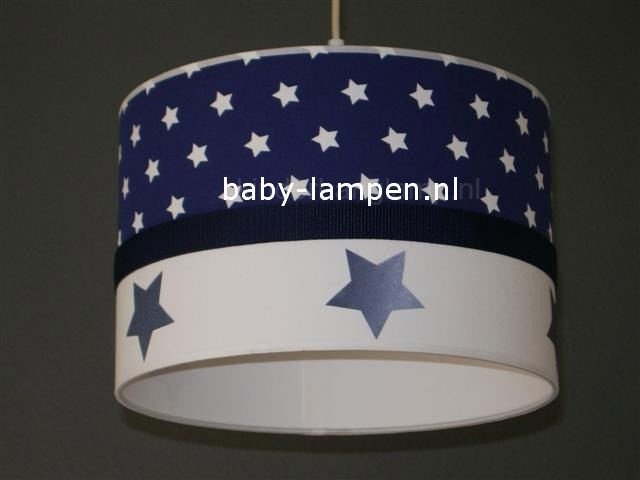 lamp babykamer donkerblauwe sterren