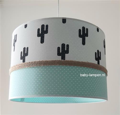 Lamp babykamer cactus en mint groen