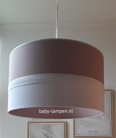 babylamp oudroze wit