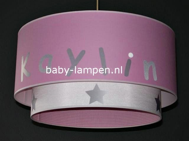 lamp babykamer Kaylin effen roze
