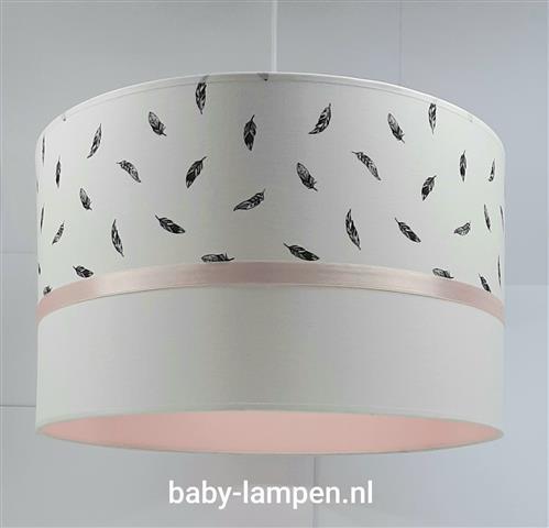 Lamp babykamer licht roze en veertjes
