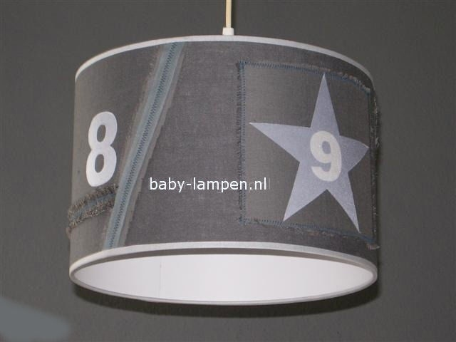 Stoere lamp babykamer grijs 9 en 8