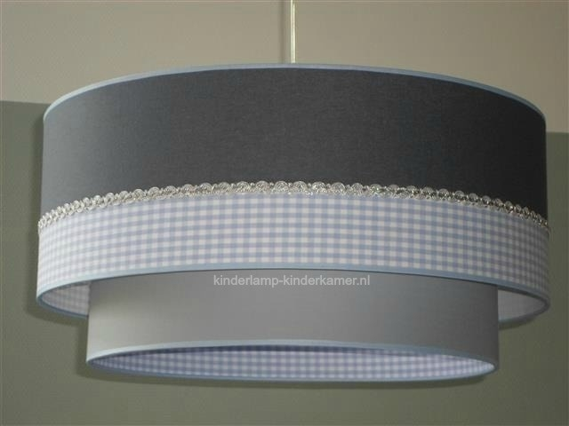 lamp babykamer licht blauw en grijs