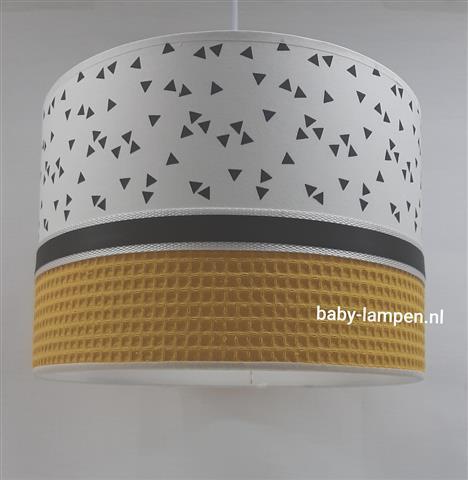Lamp babykamer okergeel wafelstof