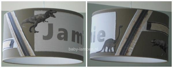 Stoere lamp babykamer  dinosaurus met naam